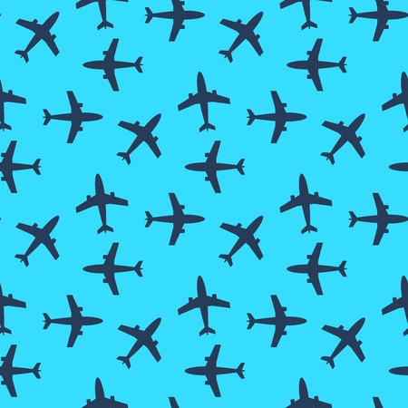 A airplane seamless pattern concept vector illustration.