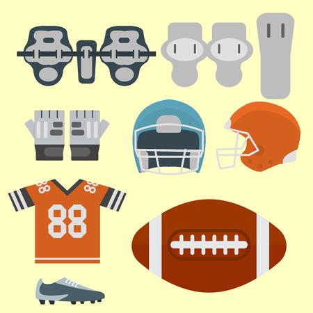 American football player uniform sport game icons vector cartoon style quarterback jumping success usa athlete