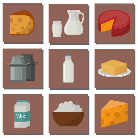 Zuivel zuivelproducten biologisch voedsel gezonde room vector verse kaas glas voeding boerderij calcium ontbijt kruidenier.
