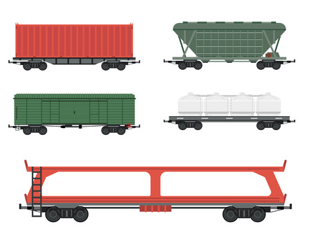 Train carriages car railway without striping travel railroad passenger locomotive vector wagon transport.