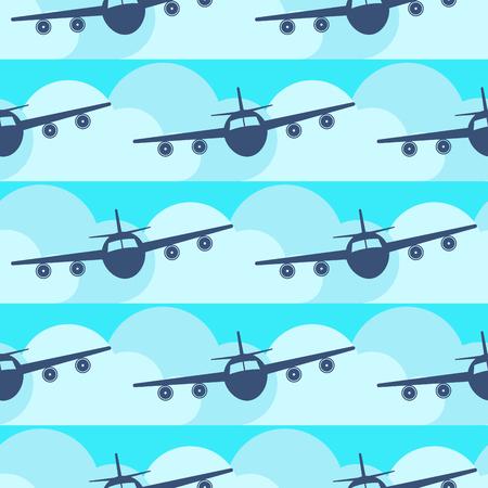 평면 교통 원활한 패턴 원래 플랫 여행 교통 자유 자유 항공기 비행기.