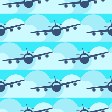 Vliegtuig vervoer naadloze patroon originele vlakke reizen vervoer vrijheid vliegtuigen vliegtuig.