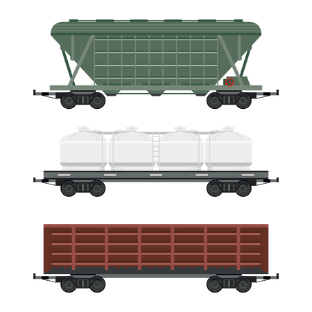 Tren de transporte de coches sin conductor sin conductor ferroviario vector vagón de transporte de transporte de taxi de la línea de tren Foto de archivo - 88058446