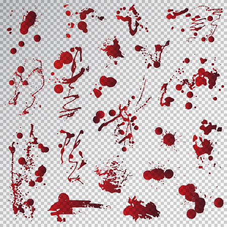 Blood splat splash spot red stain bloody liquid vector illustration