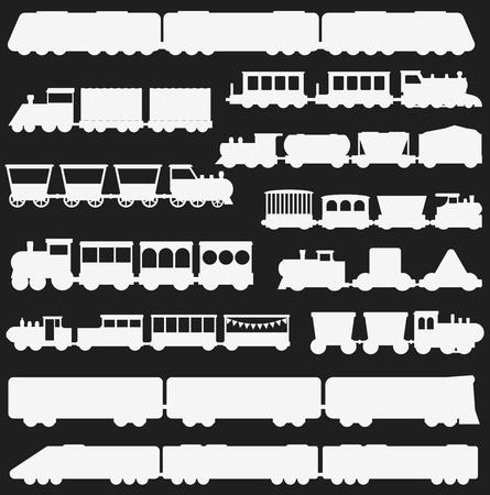 グッズ鉄道ベクトル イラスト白黒  イラスト・ベクター素材