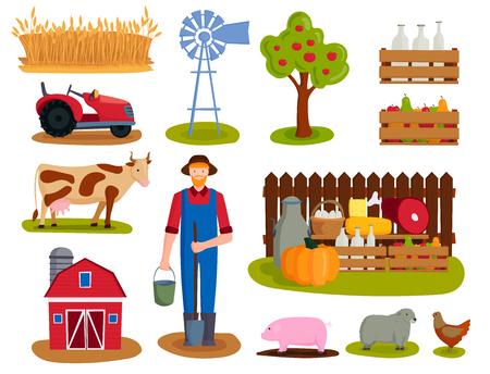 Ilustración de vector de granja Foto de archivo - 87754467