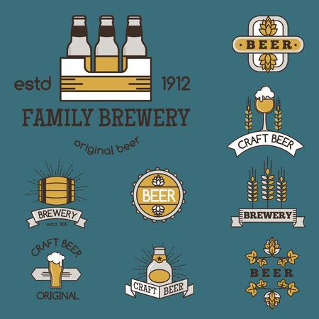 Vintage craft beer retro logo