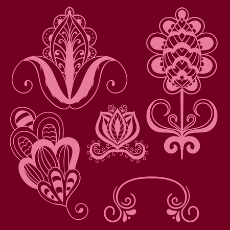 Henna tattoo vector. Ilustrace