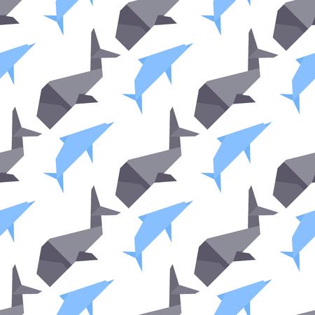 Vector whale illustration seamless pattern Illustration