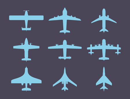Vector airplane illustration top view