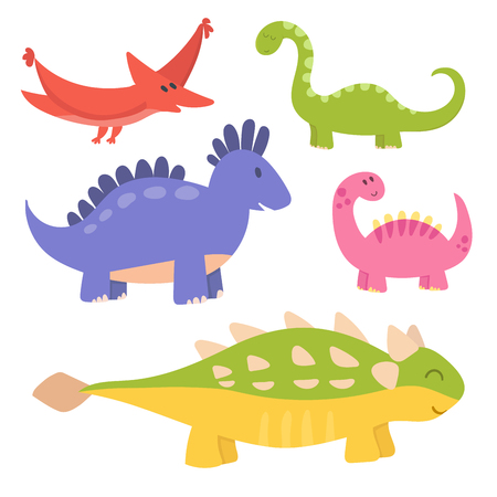Cartoon dinosaurs vector illustration