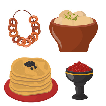 Traditionele Russische keuken Stock Illustratie
