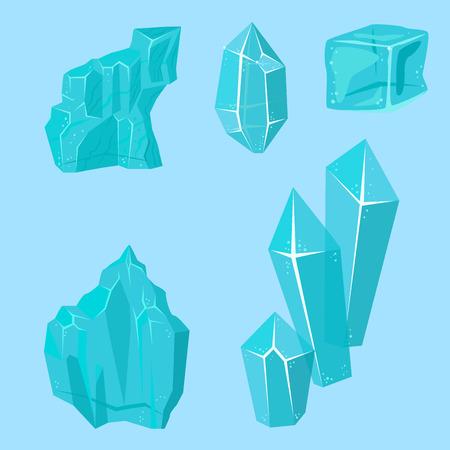 Realistische ijskappen snowdrifts en ijspegels