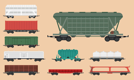 Train carriages Illustration