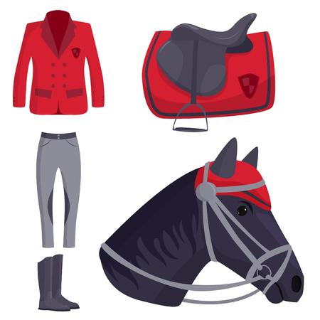 騎手の馬のベクトル  イラスト・ベクター素材