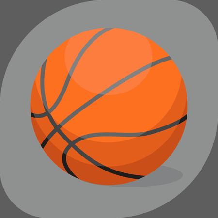 Basketball ball activity leisure sport symbol team game orange rubber athletic equipment. Illustration