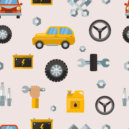 Car repair parts pattern. Illustration