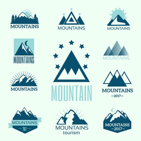 Ensemble de vecteur d & # 39 ; emblèmes de l & # 39 ; exploration de la montagne vintage et éléments de conception Banque d'images - 87875815