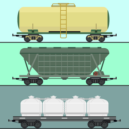 Treinwagons autospoor zonder striping reizen locomotief passagier locomotief vector huif transport.