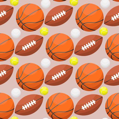 Attrezzatura atletica di gomma arancio del gioco di squadra del fondo senza cuciture di sport di svago di attività della palla di pallacanestro. illustrazione vettoriale. Archivio Fotografico - 87875873