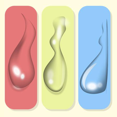 Realistic water drops liquid transparent raindrop splash vector illustration