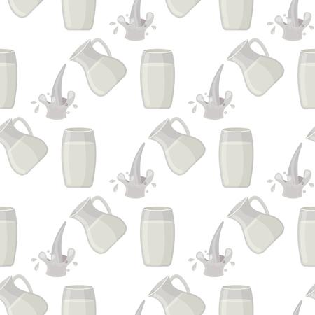 De kruik voedende gepasteuriseerde melk van de melk traditionele aard drinkt naadloze melkachtig wit de zuivelproduct vectorillustratie van de drankdrank.