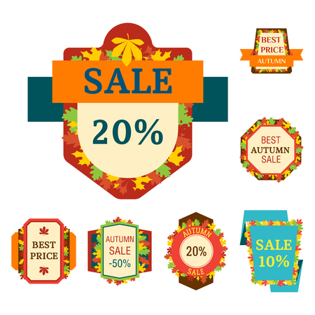 Super sale extra bonus autumn banners text label business shopping internet promotion discount offer vector illustration