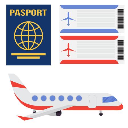 Aviation icons. Illustration