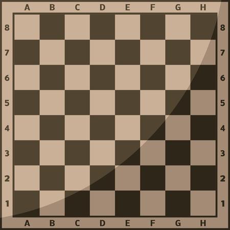 Schaakbord en schaakstukken achtergrond vector vrije tijd concept ridder groep wit en zwart stuk competitie Stock Illustratie
