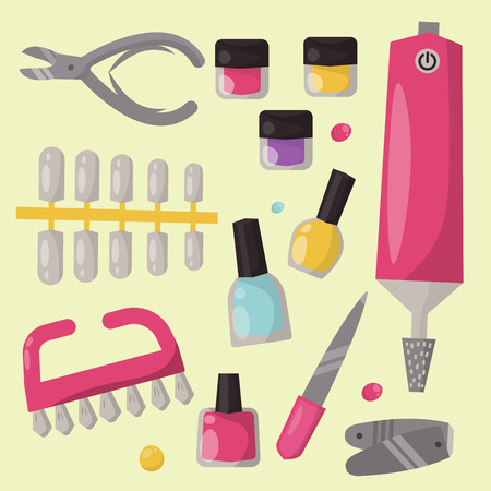Manicure instruments set.