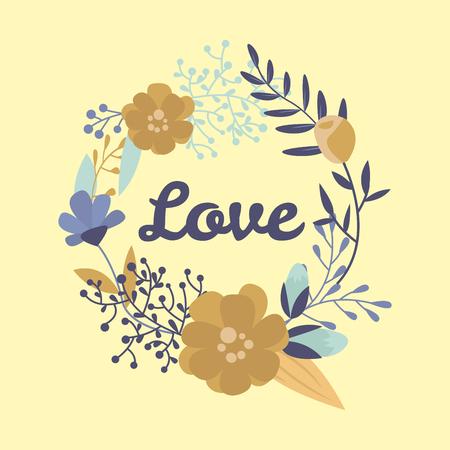 結婚式の招待カード スイート花テンプレート日手作り印刷レイアウト デザイン ベクトル図をレタリング  イラスト・ベクター素材