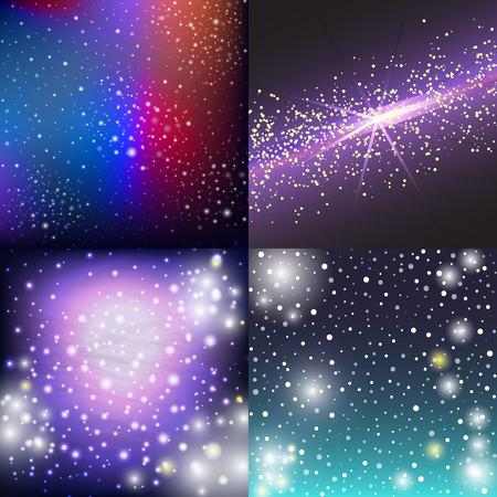 星空の外側の銀河の図。