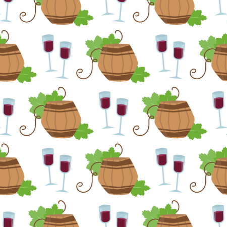 Wine pattern with silhouettes of grape. Illustration
