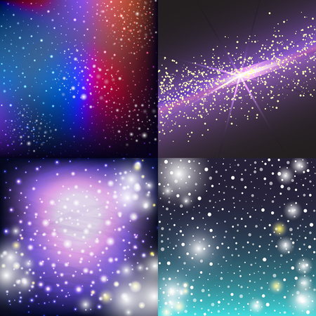 Starry outer galaxy cosmic space illustration universe background sky astronomy nebula cosmos night constellation vector realistic astrology. Stock Vector - 88063995