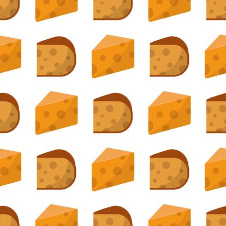 おいしいフレッシュ チーズのシームレスなパターン酪農食品と牛乳カマンベール作品デリカテッセン ゴーダ食事はベクトル イラストです。  イラスト・ベクター素材