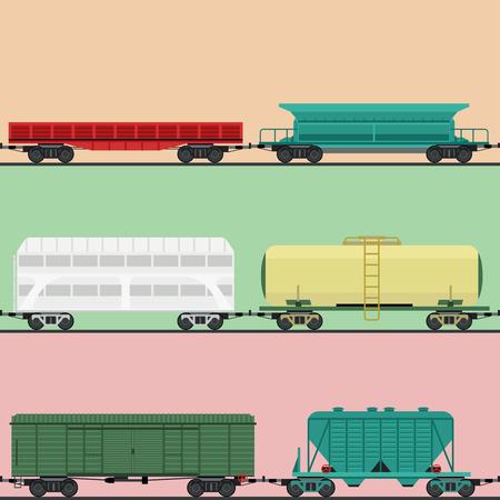 Trein rijtuigen vector Stock Illustratie