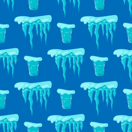 현실적인 얼음 모자 snowdrifts 원활한 패턴 배경 일러스트