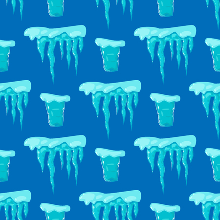 Realistic ice caps snowdrifts seamless pattern background Illustration