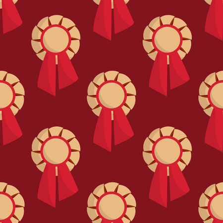 Vector trophy champion seamless pattern background