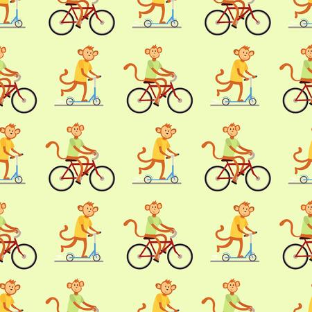 Monkey cartoon vector illustration