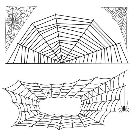 Spider web silhouet vector pictogram.