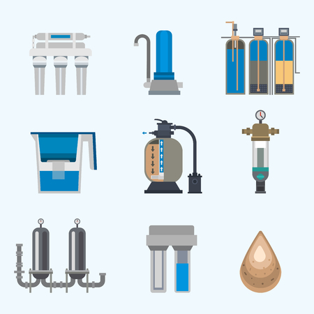 Water purification icon vector illustration.