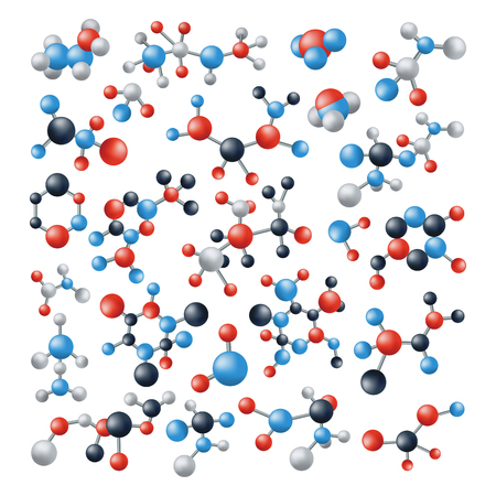 Molecule biology cell structure DNA vector neurons science technology molecular vector illustration