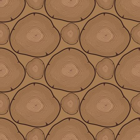 Hout slice structuur boom cirkel gesneden grondstof naadloze patroon.