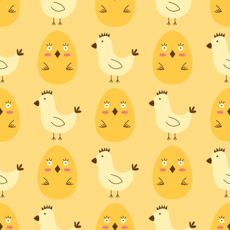부활절 달걀 봄 원활한 패턴 배경으로 그린 멀티 컬러 유기농 식품 휴가 게임 벡터 일러스트 레이 션.