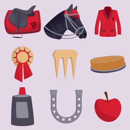 Jockey Pferd Vektor Chor Champion Tier Hengst Schutz Aktivität Aktivität Reiten Sport Freizeit Illustration Standard-Bild - 88304554