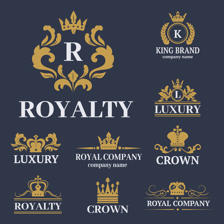 Crown king vintage premium vector illustration.