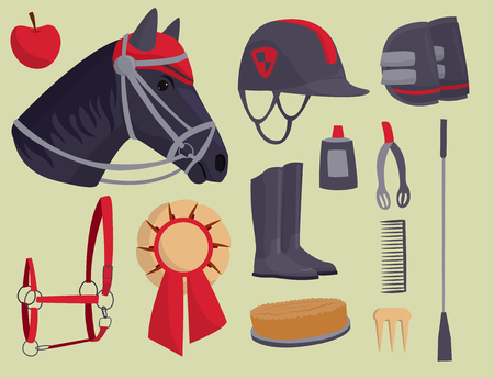 Jockey horse vector illustration.