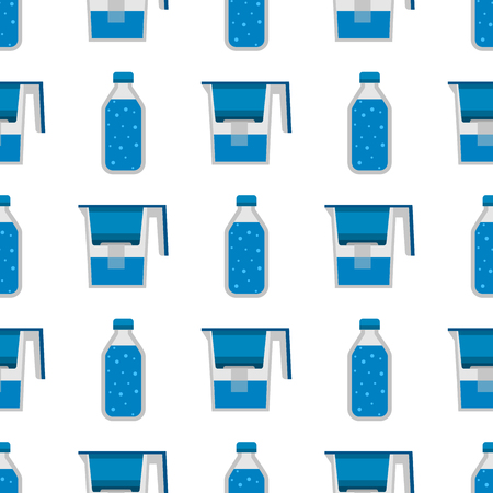 Water purification seamless pattern background