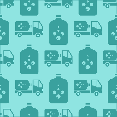 Water delivery vector seamless pattern background Illustration